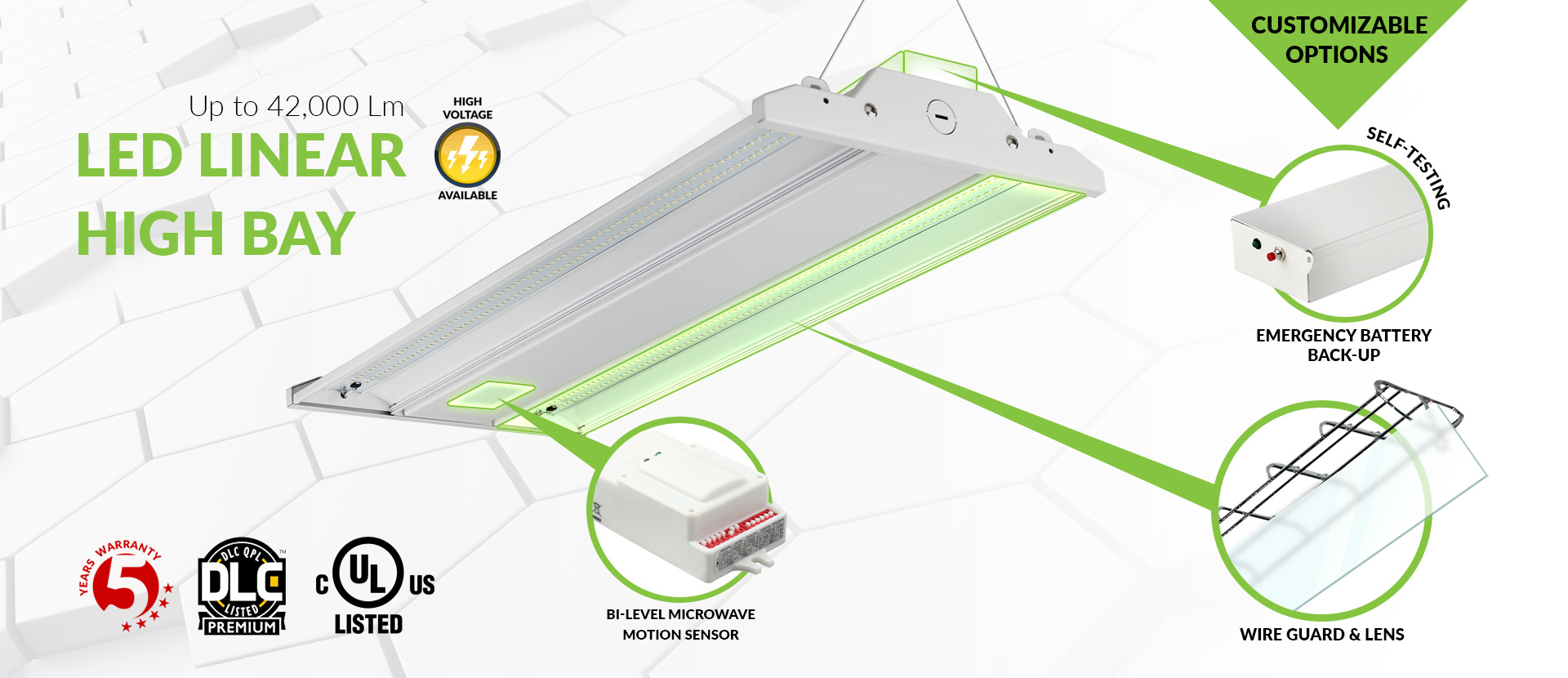 LED High Bay Linear Light Fixture